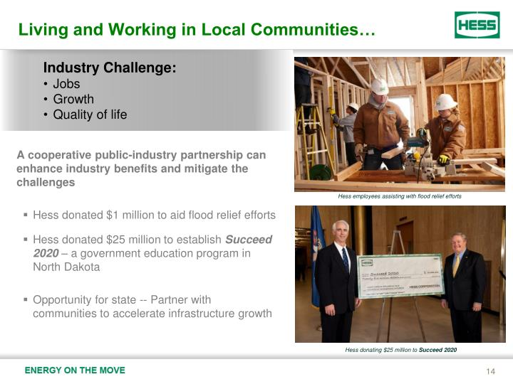 Living and Working in Local Communities…