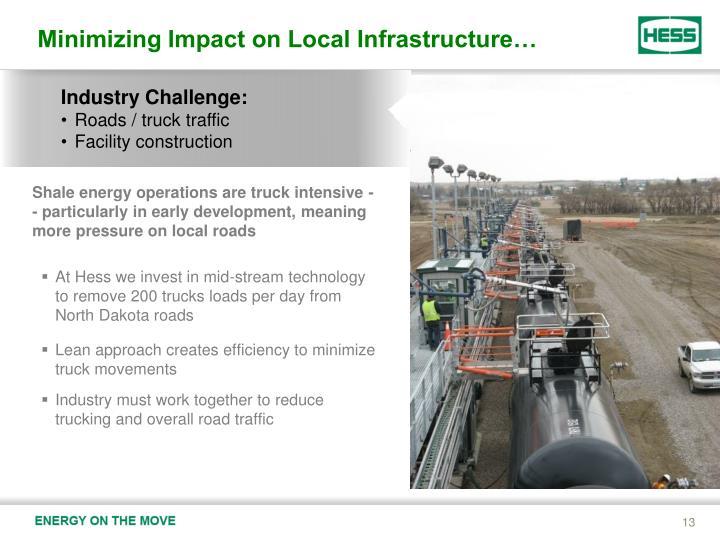 Minimizing Impact on Local Infrastructure…