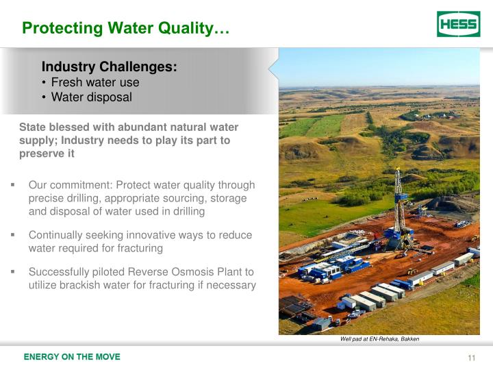 Protecting Water Quality…