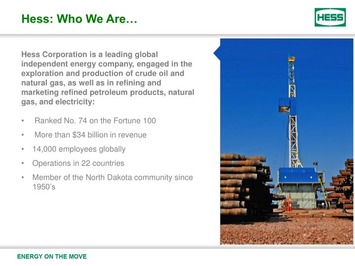 Hess: Who We Are…