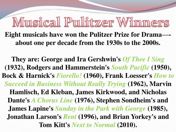Musical Pulitzer Winners