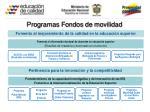 programas fondos de movilidad