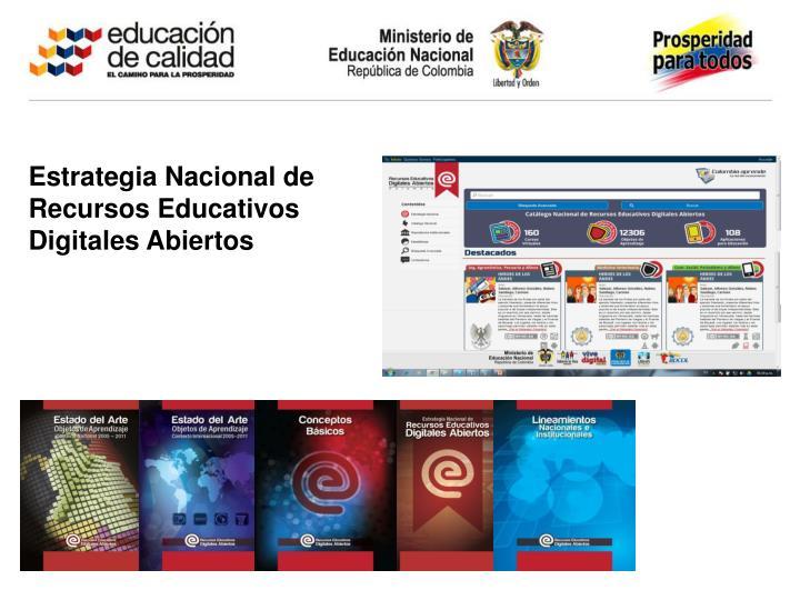 Estrategia Nacional de Recursos Educativos Digitales Abiertos