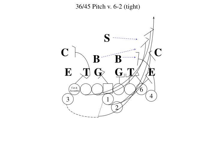 36/45 Pitch v. 6-2 (tight)