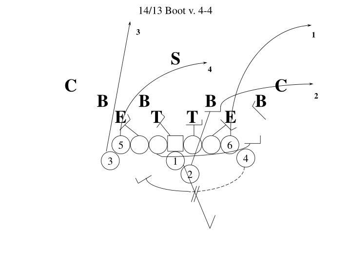 14/13 Boot v. 4-4