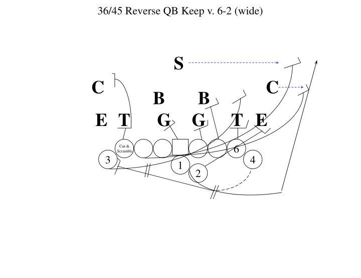 36/45 Reverse QB Keep v. 6-2 (wide)