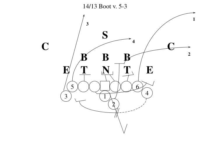14/13 Boot v. 5-3
