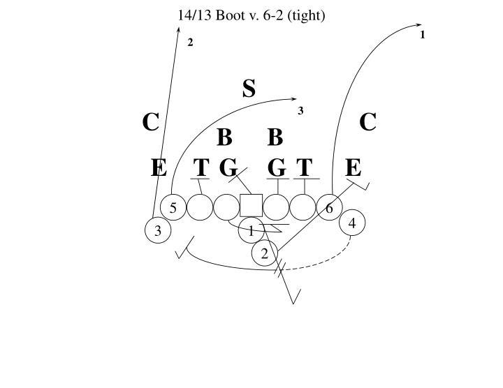 14/13 Boot v. 6-2 (tight)