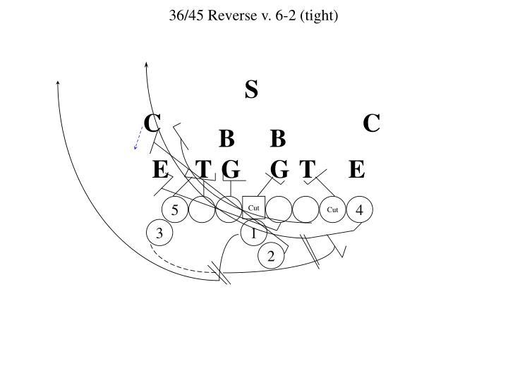 36/45 Reverse v. 6-2 (tight)