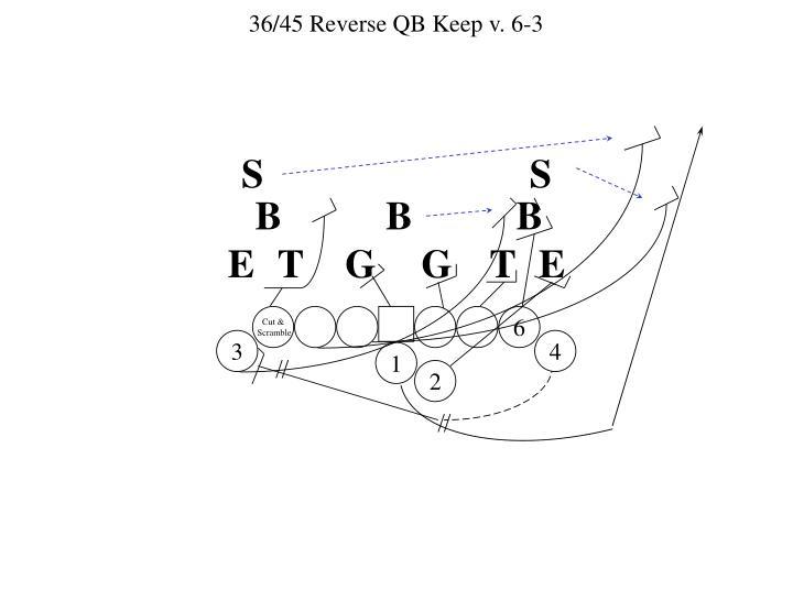 36/45 Reverse QB Keep v. 6-3