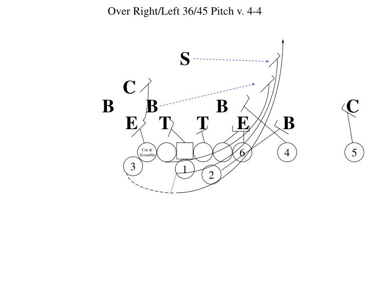 Over Right/Left 36/45 Pitch v. 4-4