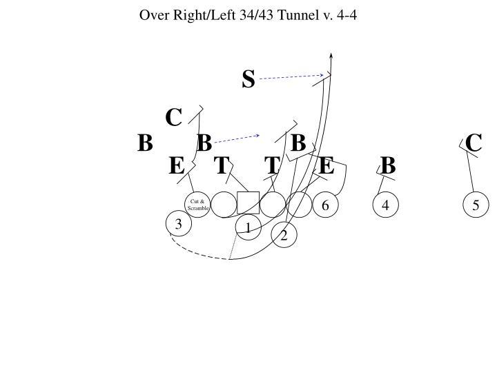 Over Right/Left 34/43 Tunnel v. 4-4