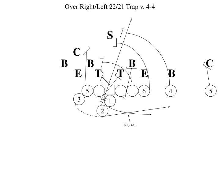 Over Right/Left 22/21 Trap v. 4-4