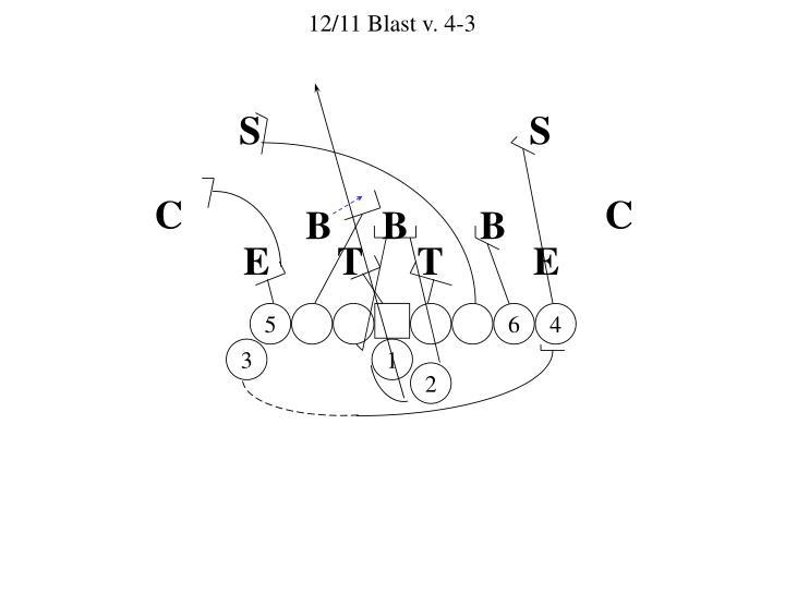 12/11 Blast v. 4-3