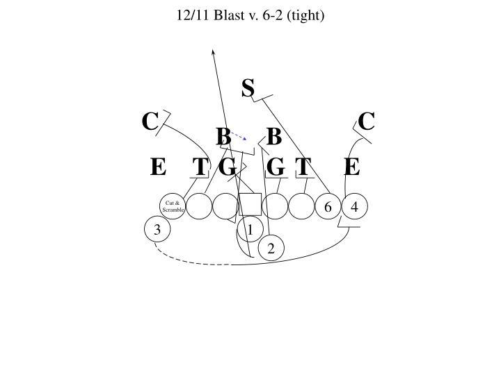 12/11 Blast v. 6-2 (tight)