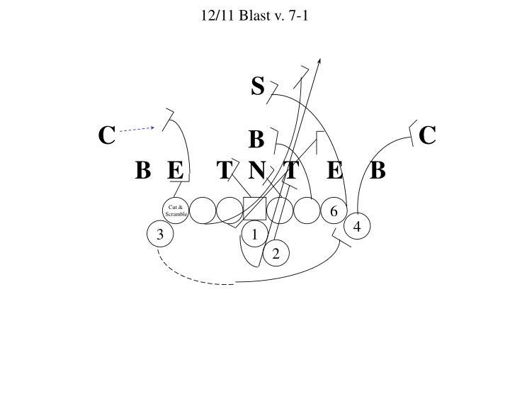 12/11 Blast v. 7-1