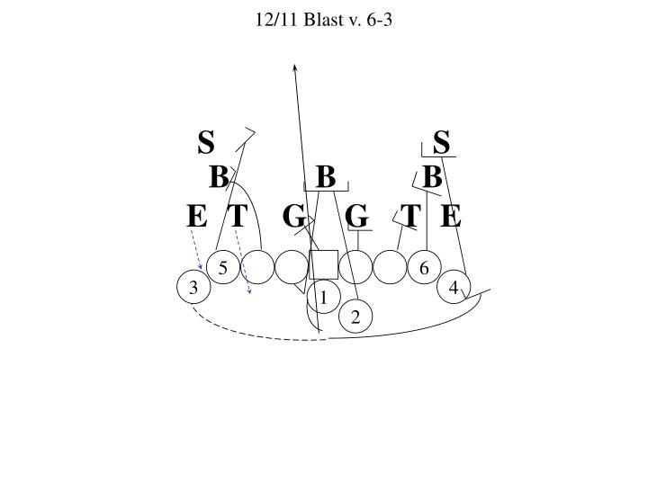 12/11 Blast v. 6-3
