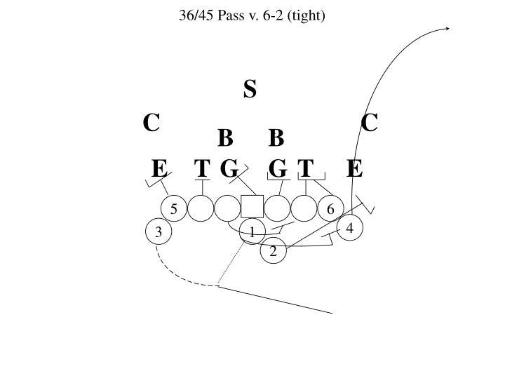 36/45 Pass v. 6-2 (tight)