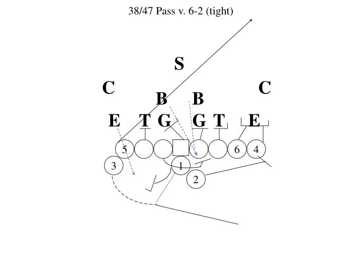 38/47 Pass v. 6-2 (tight)