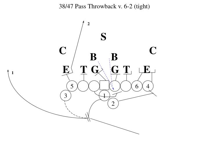 38/47 Pass Throwback v. 6-2 (tight)