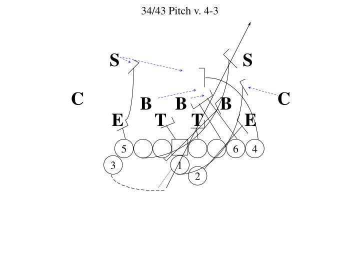 34/43 Pitch v. 4-3