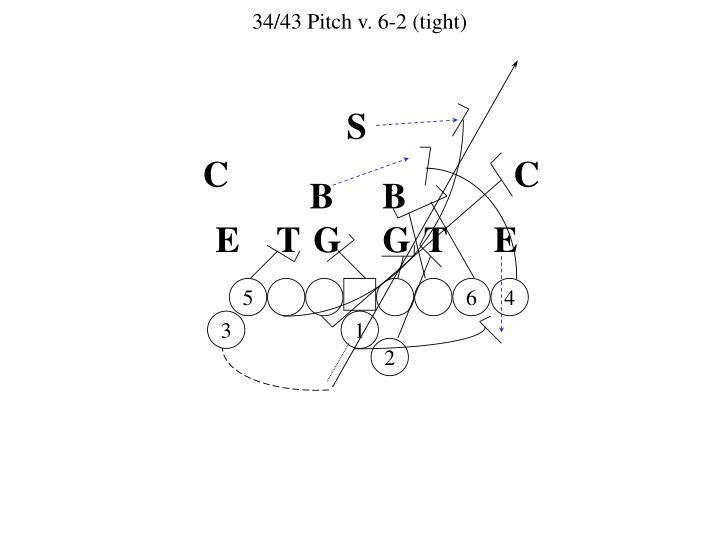 34/43 Pitch v. 6-2 (tight)