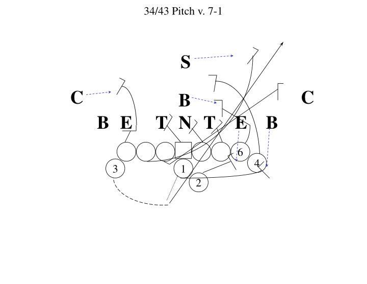 34/43 Pitch v. 7-1