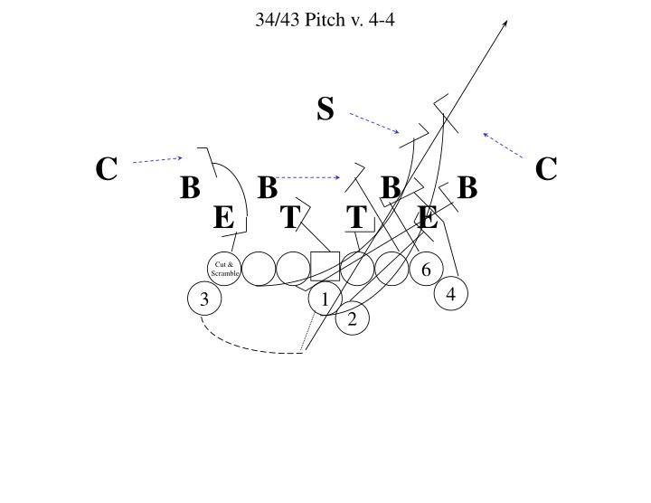 34/43 Pitch v. 4-4