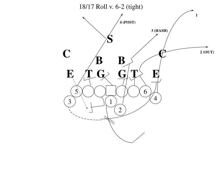 18/17 Roll v. 6-2 (tight)