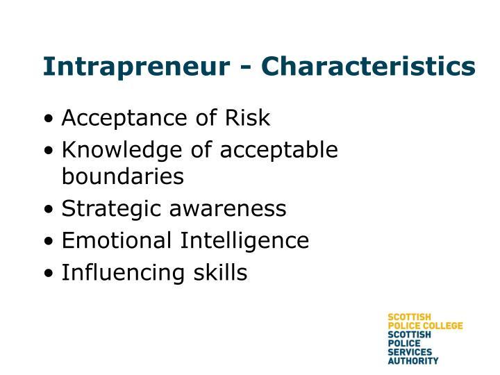 Intrapreneur - Characteristics