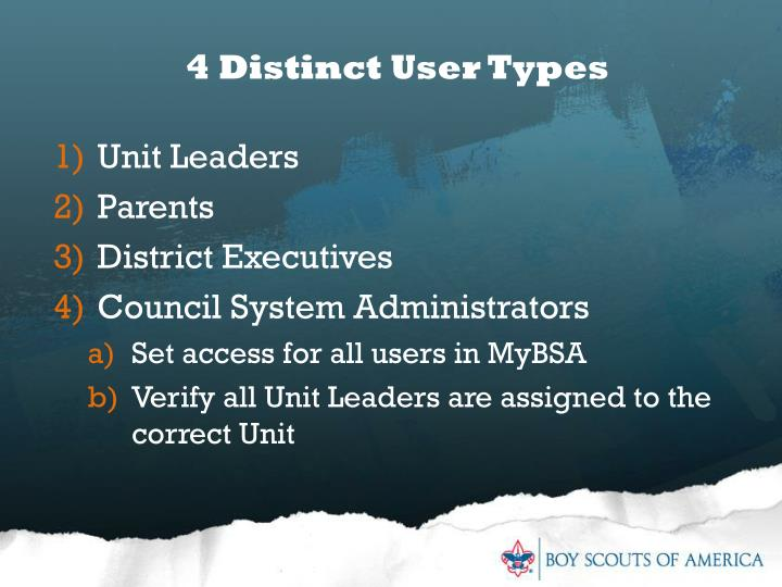 4 Distinct User Types