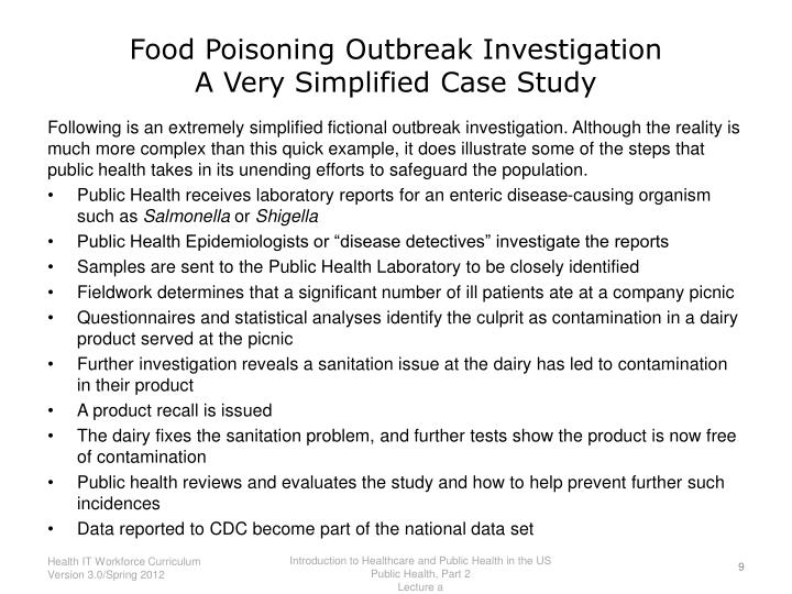 Food Poisoning Outbreak Investigation