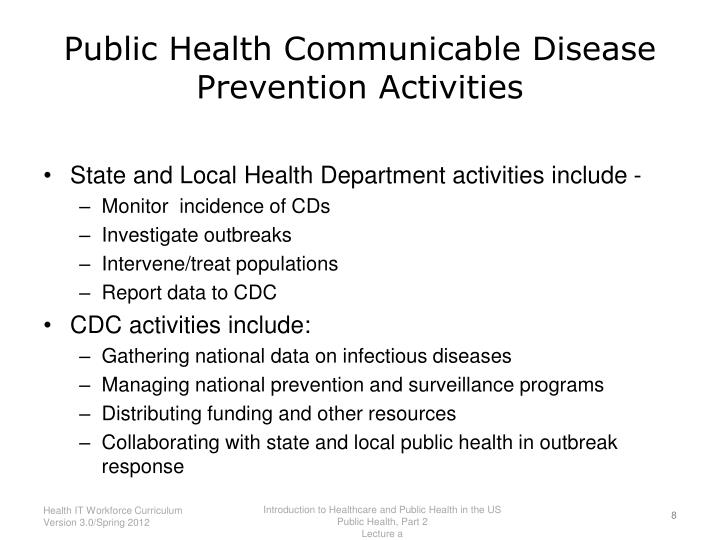Public Health Communicable Disease Prevention Activities