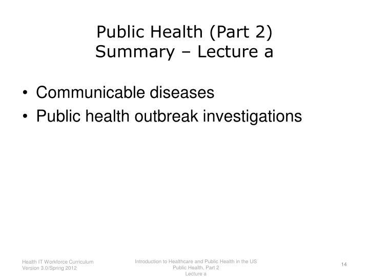 Public Health (Part 2)
