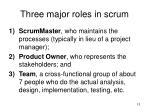 three major roles in scrum