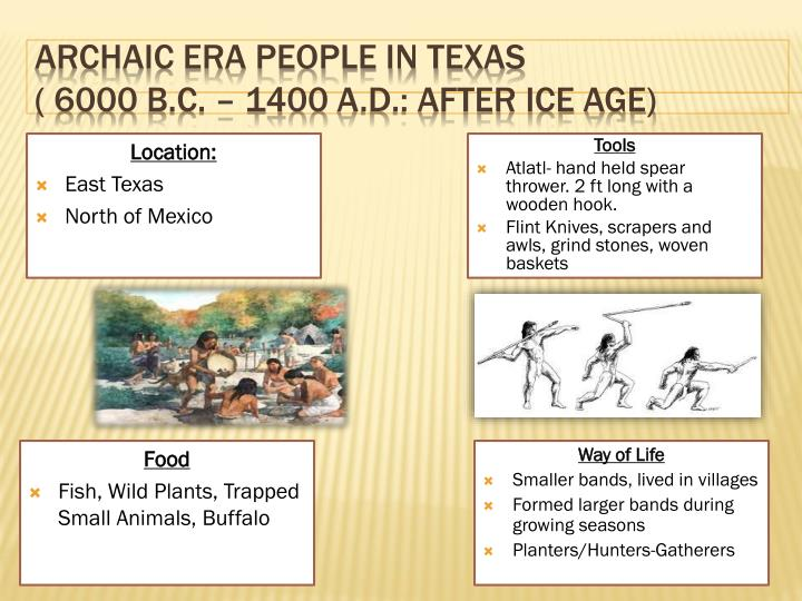 Archaic Era People in Texas