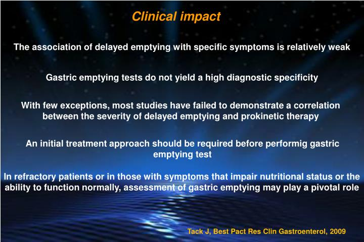 Clinical impact