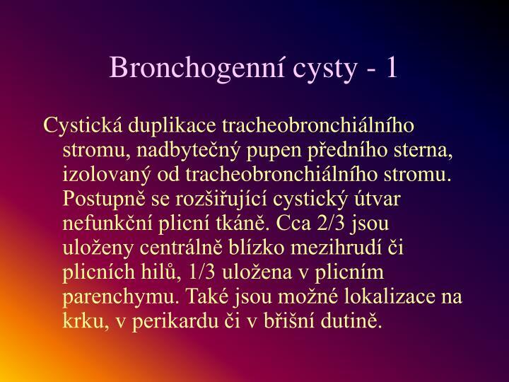Bronchogenní cysty - 1