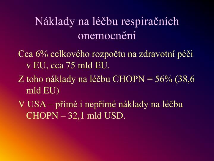 Náklady na léčbu respiračních onemocnění