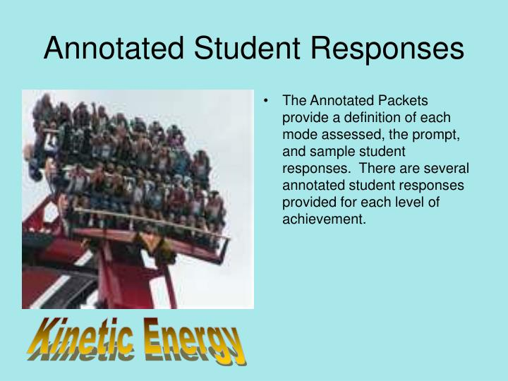 Annotated Student Responses