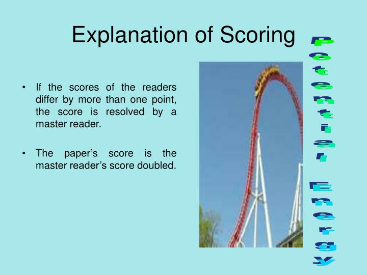Explanation of Scoring