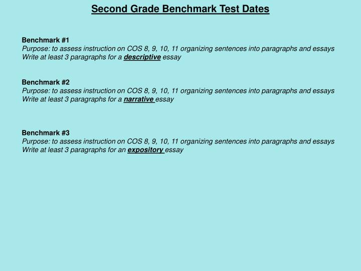 Second Grade Benchmark Test Dates