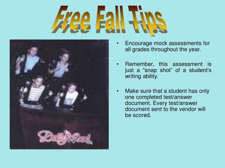 Free Fall Tips