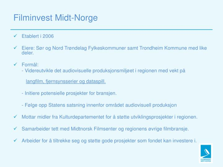 Filminvest midt norge