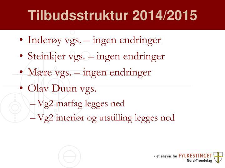 Tilbudsstruktur 2014/2015