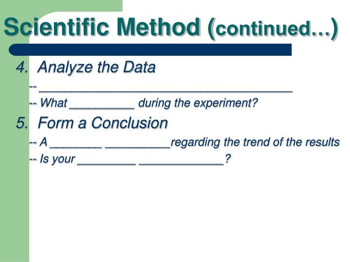 Scientific Method (