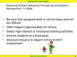 reducing problem behaviors through good academic management 10 ideas