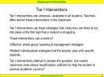 tier i interventions