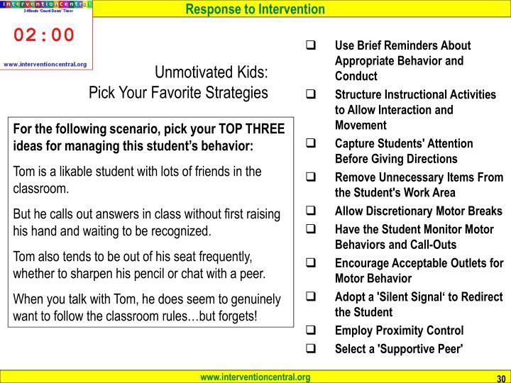 Unmotivated Kids: