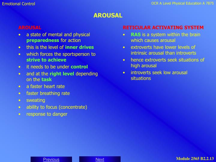 RETICULAR ACTIVATING SYSTEM